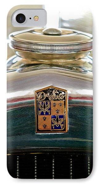 1930 Desoto K Hood Ornament Emblem Phone Case by Jill Reger