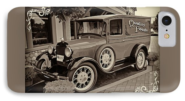 1930 Ford Panel Truck IPhone Case by Richard Farrington