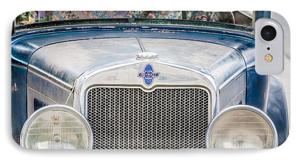 IPhone Case featuring the photograph 1930's Chevy Headlights by Dawn Romine