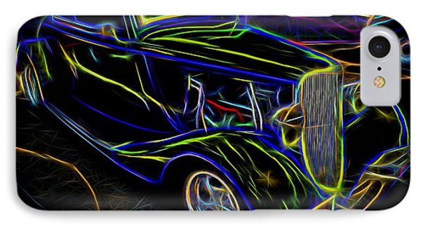 1930s Ford Coupe Neon Abstract IPhone Case by Gary Whitton