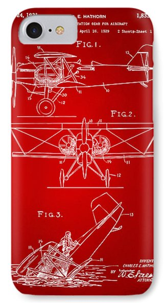 1931 Aircraft Emergency Floatation Patent Red IPhone Case