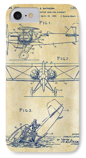 1931 Aircraft Emergency Floatation Patent Vintage IPhone Case