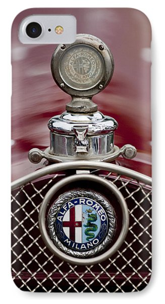 1931 Alfa-romeo Hood Ornament IPhone Case by Jill Reger