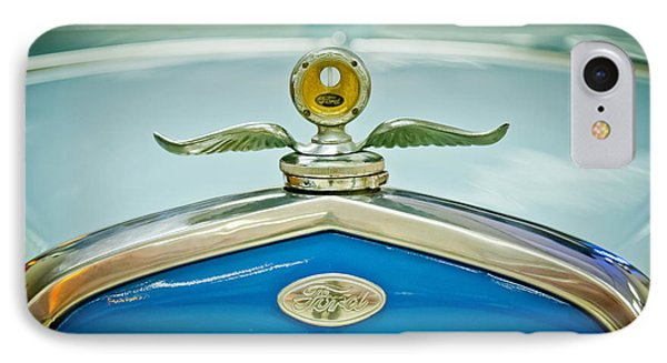 1931 Ford Emble - Moto Meter Hood Ornament IPhone Case by Jill Reger