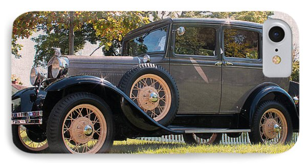 1931 Ford Sedan On Hill At Greenfield Village In Dearborn Michigan IPhone Case by Design Turnpike