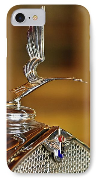 1931 Lasalle Hood Ornament Phone Case by Jill Reger
