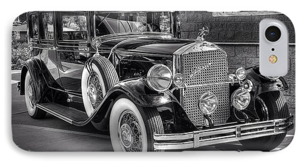 1931 Pierce Arrow Black And White IPhone Case by Kevin Ashley