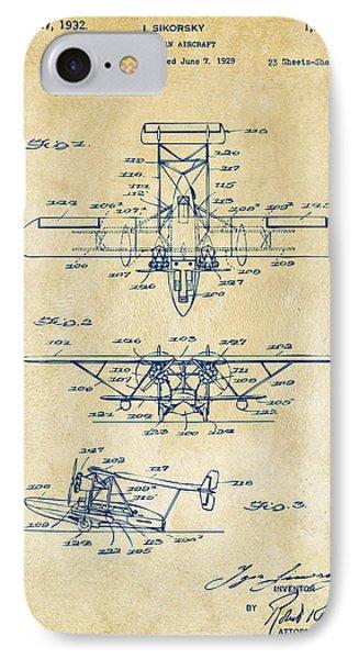 1932 Amphibian Aircraft Patent Vintage IPhone Case