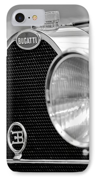 1932 Bugatti Type 55 Cabriolet Grille Emblems IPhone Case by Jill Reger
