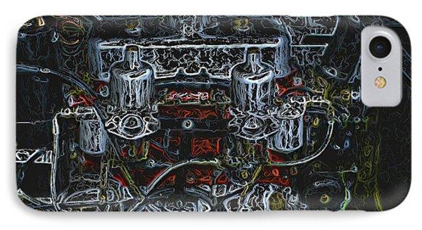 1932 Frazer Nash Tt Engine Detail Digital Art IPhone Case by John Colley