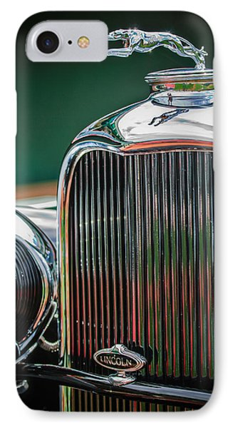 1932 Lincoln Kb Boattail Speedster Hood Ornament - Grille Emblem -0771c IPhone Case