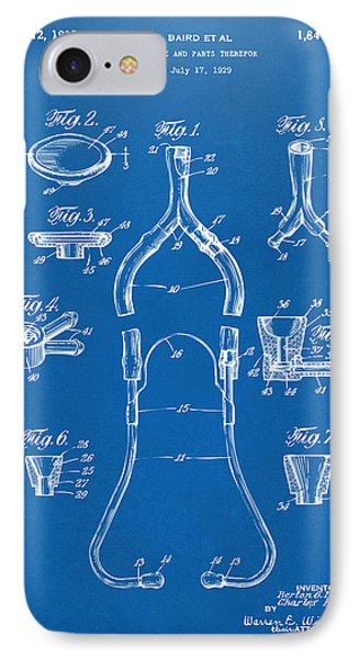 1932 Medical Stethoscope Patent Artwork - Blueprint IPhone Case by Nikki Marie Smith