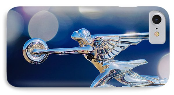 1932 Packard 12 Convertible Victoria Hood Ornament -0251c IPhone Case