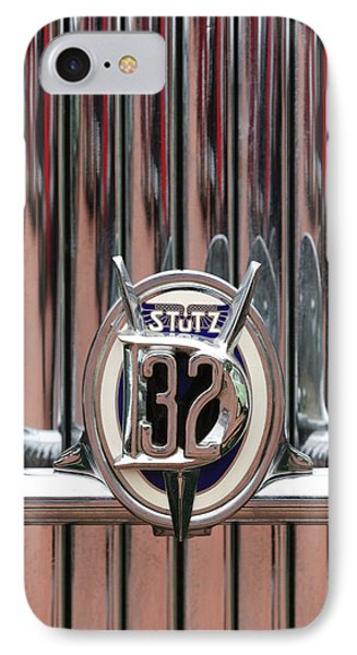 1932 Stutz Dv-32 Super Bearcat Emblem Phone Case by Jill Reger