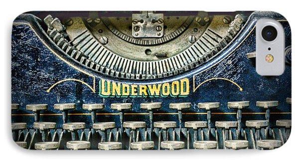 1932 Underwood Typewriter IPhone Case by Paul Ward