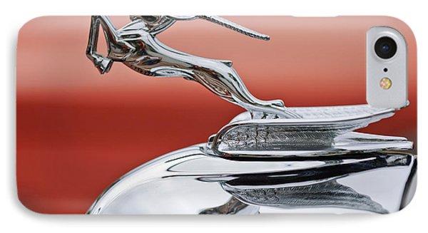 1933 Chrysler Cl Imperial Custom Dual Windshield Phaeton Hood Ornament Phone Case by Jill Reger