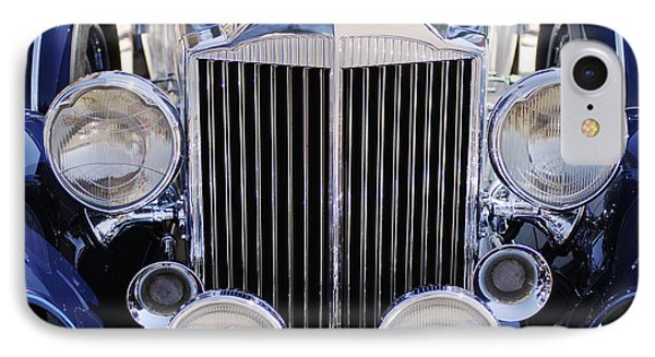 1933 Packard 12 Convertible Coupe Grille IPhone Case by Jill Reger