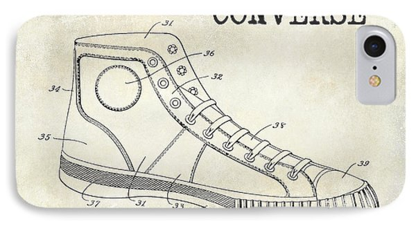 1934 Converse Shoe Patent Drawing IPhone Case