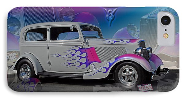 IPhone Case featuring the digital art 1934 Ford Delux by Richard Farrington