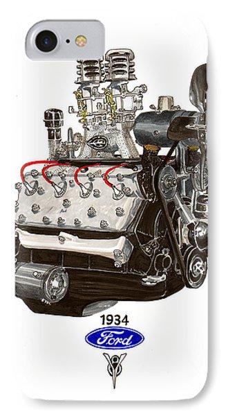 1934 Ford Flathead V 8  Phone Case by Jack Pumphrey