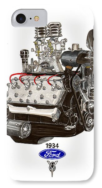 1934 Ford Flathead V 8  IPhone Case