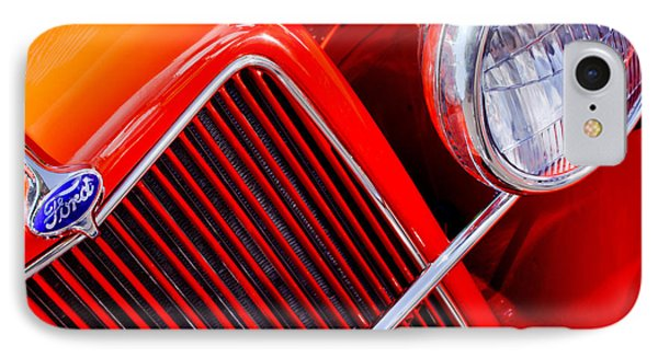 1934 Ford Pickup Truck Grille Emblem IPhone Case by Jill Reger