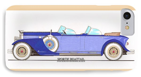 1934 Packard Sportif Boattail Concept By Dietrich Phone Case by Jack Pumphrey