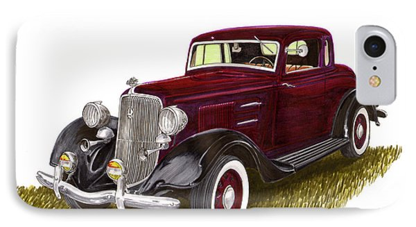 1934 Plymouth P E Coupe Phone Case by Jack Pumphrey
