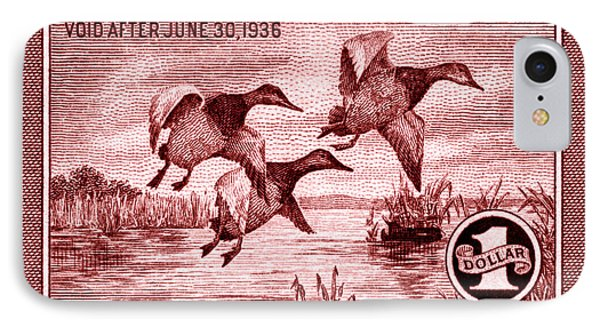 1935 American Bird Hunting Stamp IPhone Case