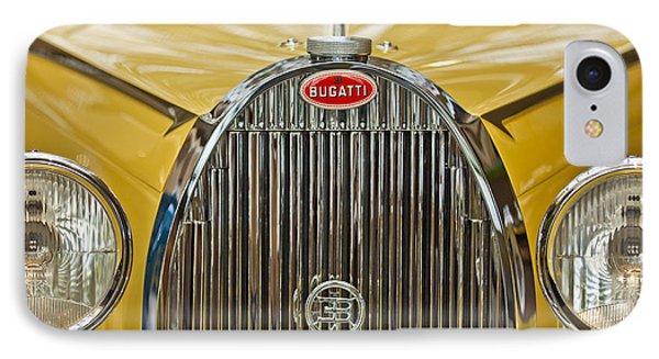 1935 Bugatti Type 57 Roadster Grille IPhone Case by Jill Reger
