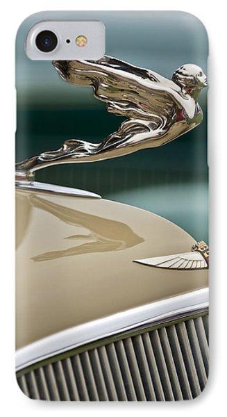 1935 Cadillac Convertible Hood Ornament Phone Case by Jill Reger