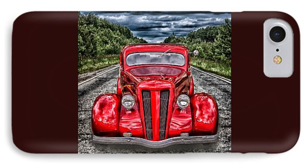 IPhone Case featuring the digital art 1935 Ford Window Coupe by Richard Farrington