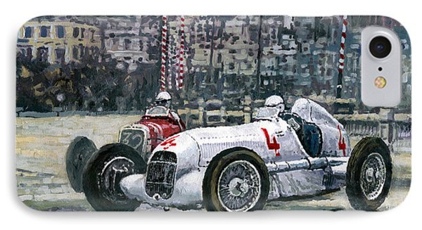 1935 Monaco Gp Mercedes-benz W25 #4 L. Fagioli Winner  IPhone Case