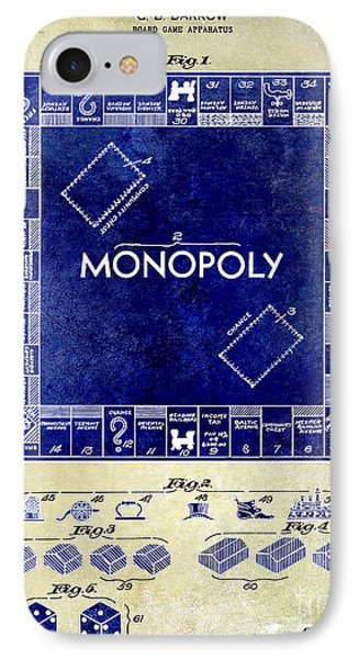 1935 Monopoly Patent Drawing 2 Tone  IPhone Case by Jon Neidert
