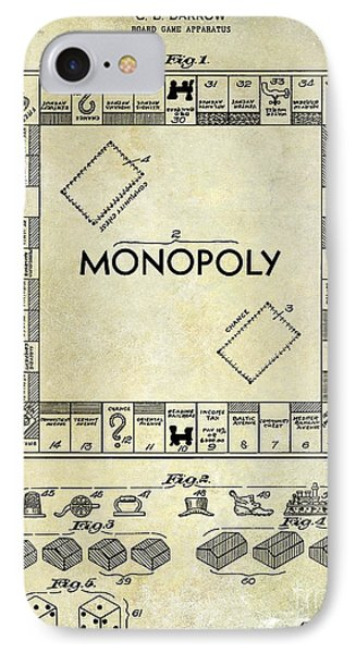 1935 Monopoly Patent Drawing IPhone Case by Jon Neidert