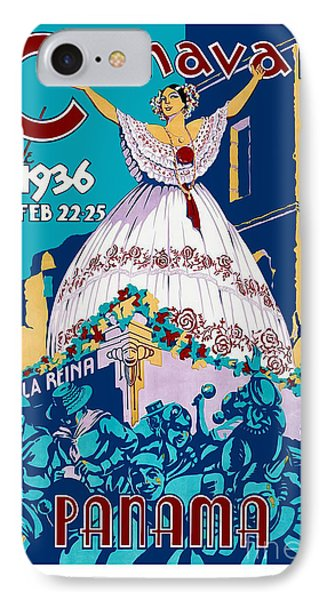 1936 Carnaval Vintage Travel Poster IPhone Case by Jon Neidert