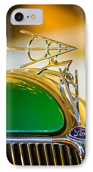 1936 Ford Deluxe Roadster Hood Ornament Phone Case by Jill Reger