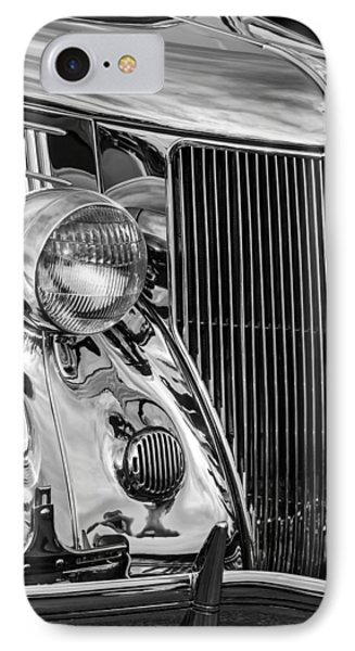 1936 Ford Stainless Steel Grille -0376bw IPhone Case