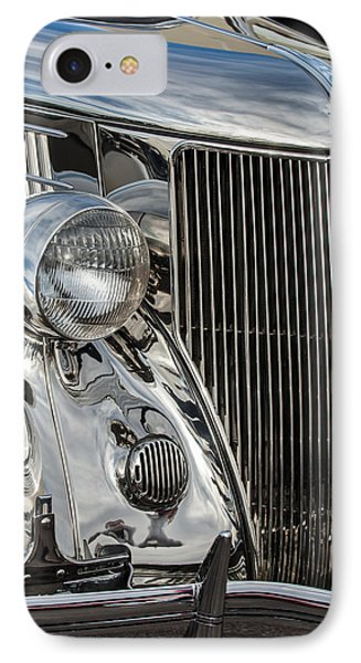 1936 Ford Stainless Steel Grille IPhone Case
