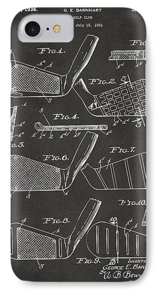 1936 Golf Club Patent Artwork - Gray IPhone Case by Nikki Marie Smith