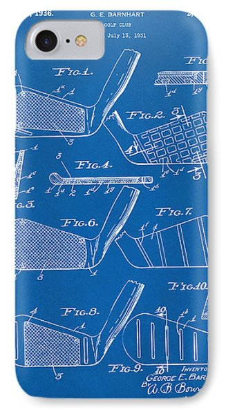 1936 Golf Club Patent Blueprint Phone Case by Nikki Marie Smith