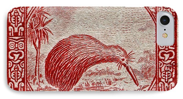 1936 New Zealand Kiwi Stamp IPhone Case