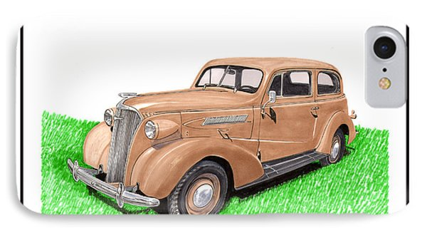 1937 Chevy Master Deluxe 2 Dr Sedan IPhone Case by Jack Pumphrey