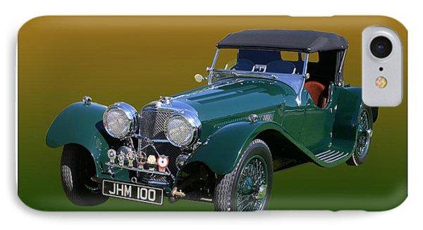1937 Jaguar S S Onehundred  IPhone Case by Jack Pumphrey
