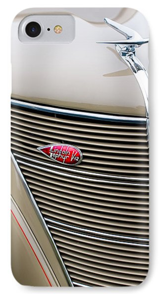 1937 Lincoln-zephyr Coupe Sedan Grille Emblem - Hood Ornament IPhone Case