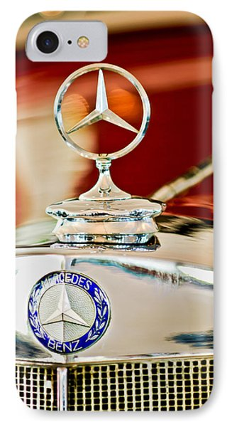 1937 Mercedes-benz Cabriolet Hood Ornament Phone Case by Jill Reger