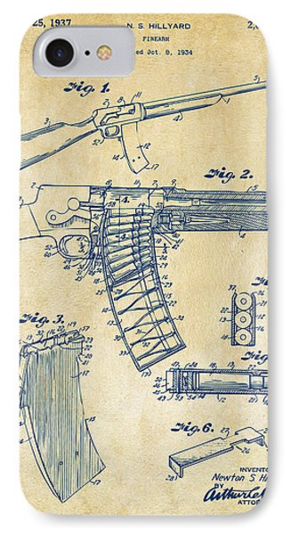 1937 Police Remington Model 8 Magazine Patent Artwork - Vintage IPhone Case by Nikki Marie Smith