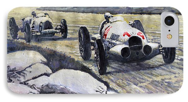 1937 Rudolf Caracciola Winning Swiss Gp W 125 IPhone Case by Yuriy Shevchuk