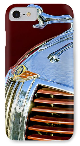 1938 Dodge Ram Hood Ornament 3 IPhone Case by Jill Reger