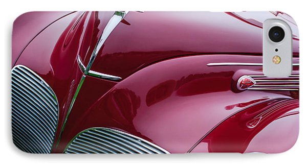 1938 Lincoln-zephyr Convertible Coupe Grille - Hood Ornament - Emblem IPhone Case by Jill Reger